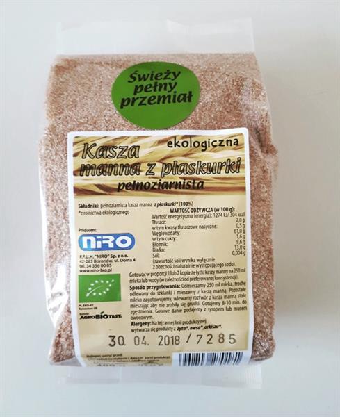 Bio Kasza manna z płaskurki pełnoziarnista (400 g)