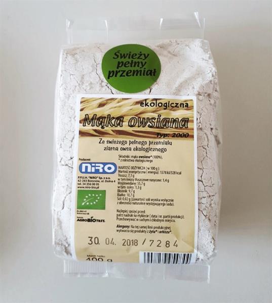Bio Mąka owsiana pełny przemiał (400 g)