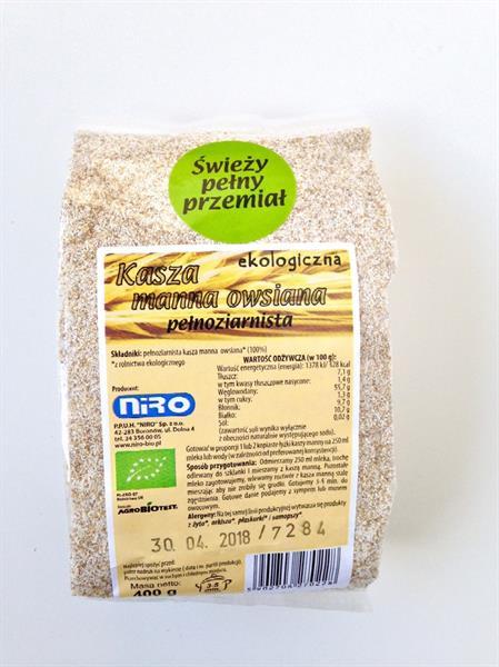 Bio Kasza manna owsiana pełnoziarnista (400 g)
